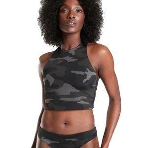 Athleta Freestyle Camo Crop Bikini Top A-C Multico